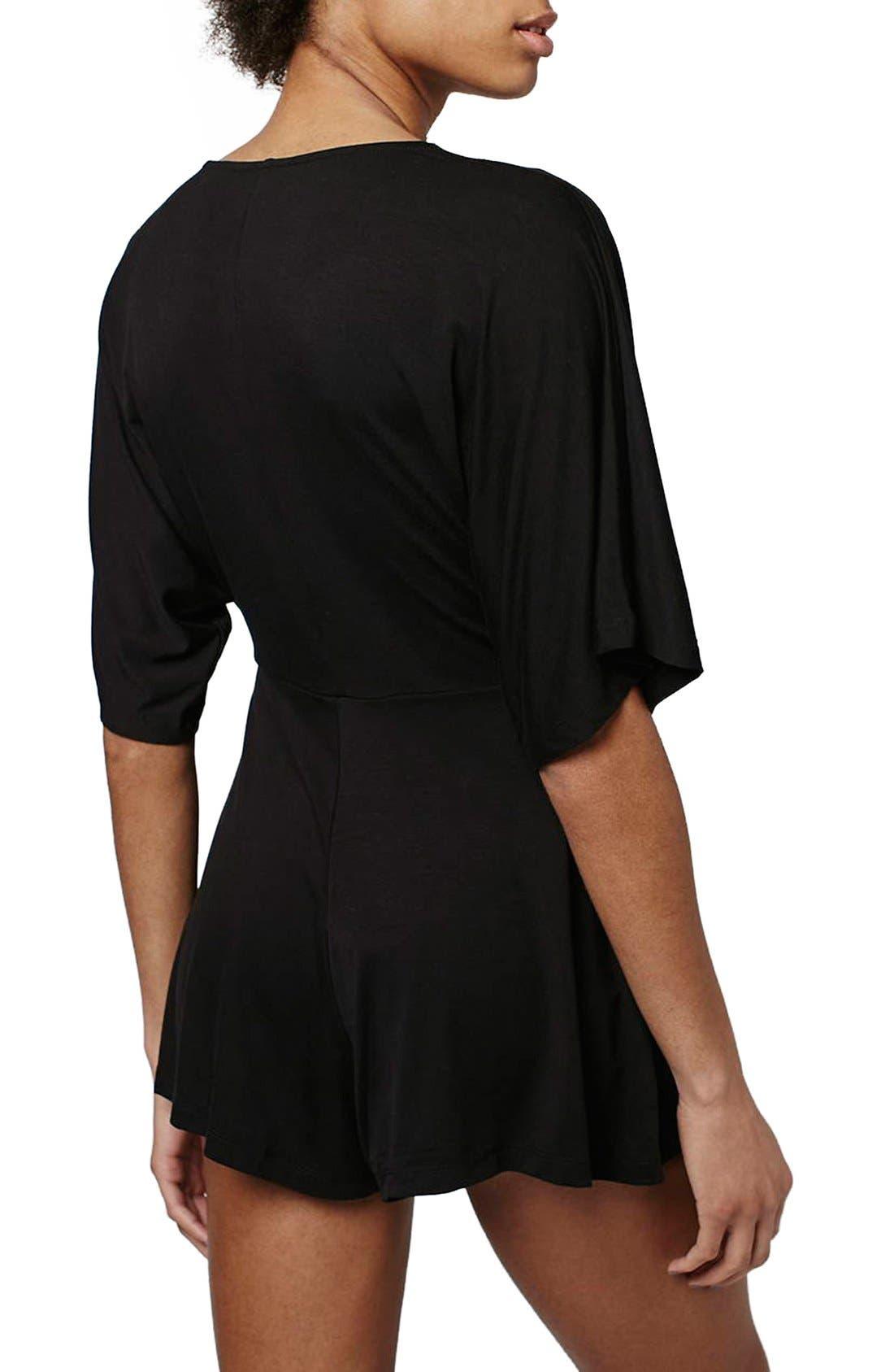 Alternate Image 3  - Topshop Jersey Lace Plunge Romper (Regular & Petite)