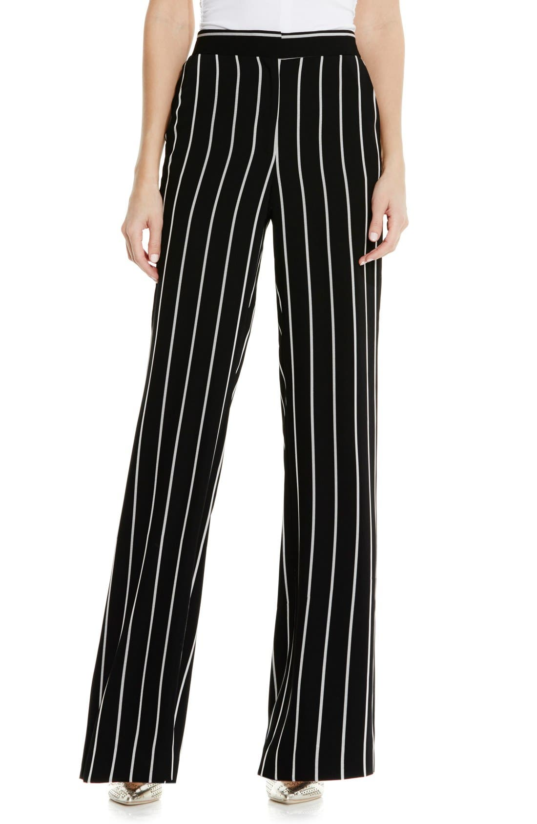 Alternate Image 1 Selected - Vince Camuto Stripe Wide Leg Pants