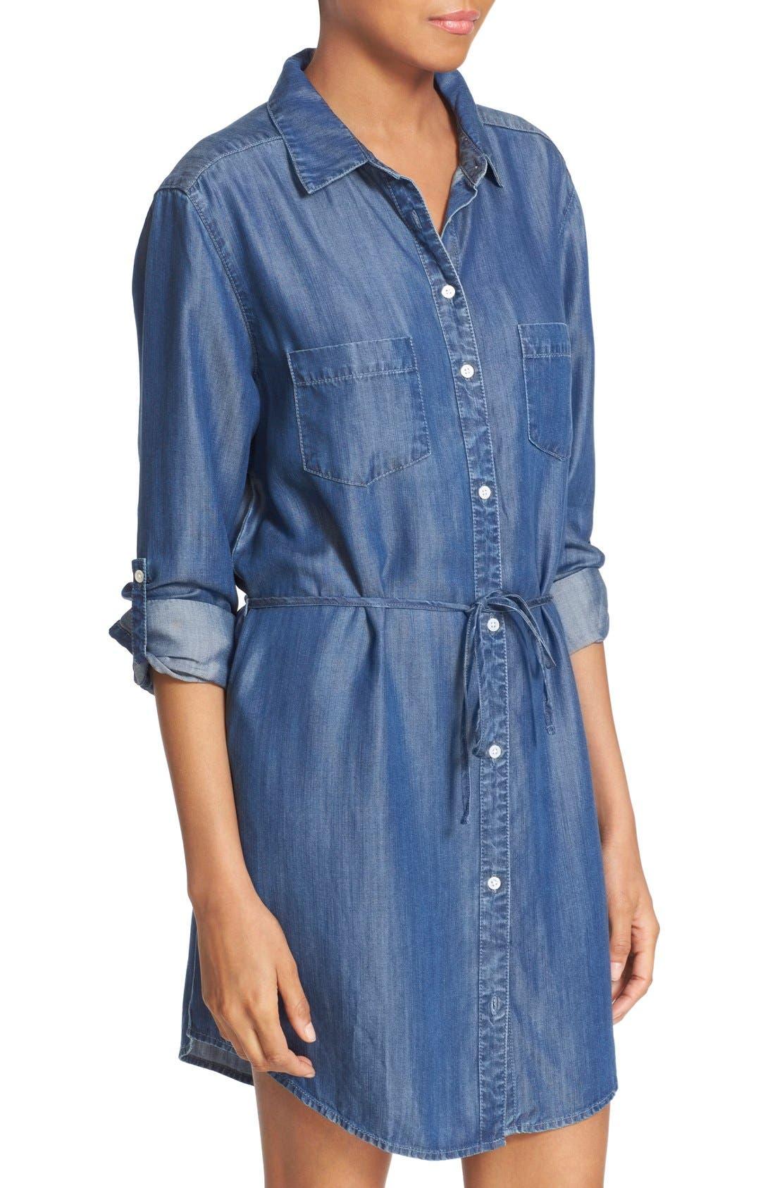 Alternate Image 4  - Soft Joie 'Lilyana' Roll Sleeve Shirtdress