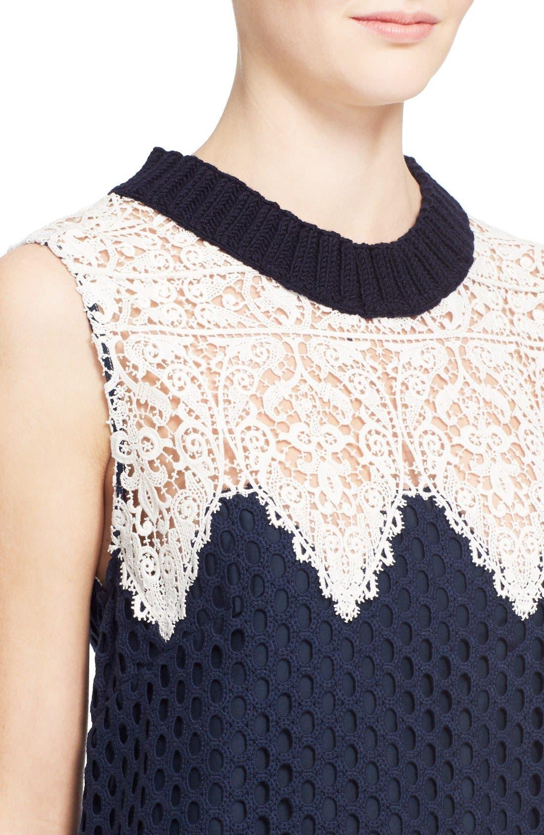 Alternate Image 4  - Sea Sleeveless Cotton Lace Dress