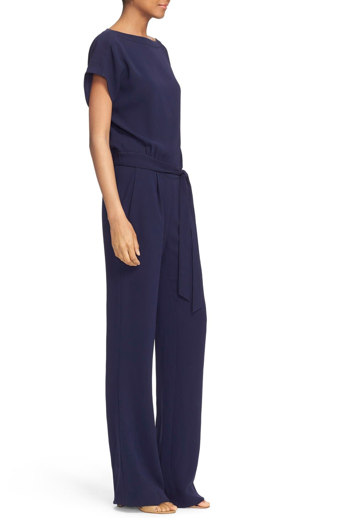 Alternate Image 3  - Diane von Furstenberg Dolman Sleeve Crepe Blouson Jumpsuit