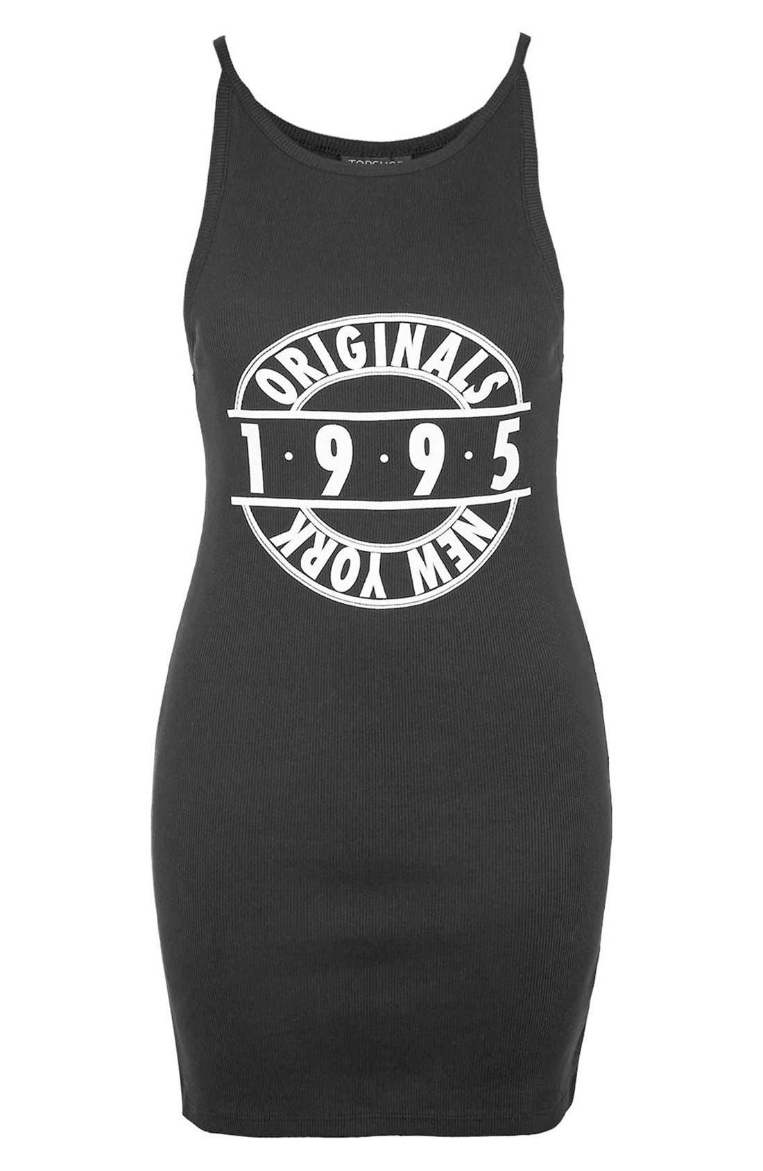 Alternate Image 4  - Topshop '1995 Originals' Ribbed Body-Con Dress