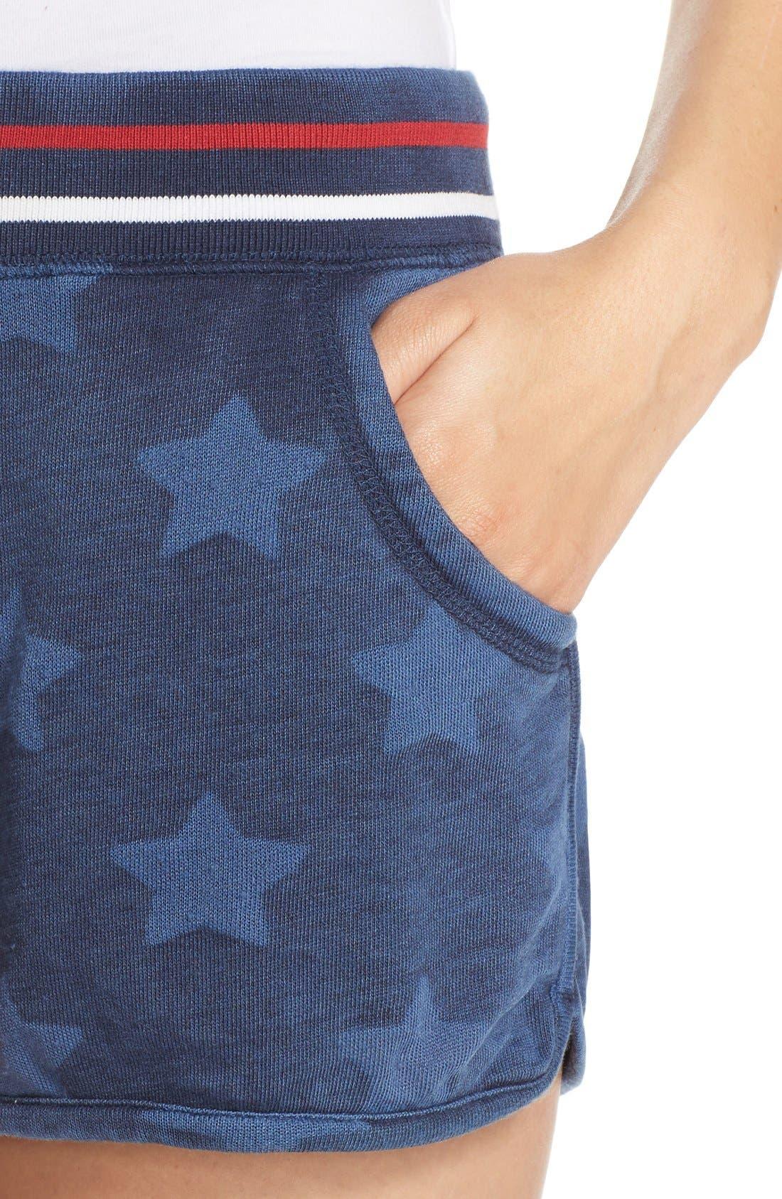Alternate Image 4  - PJ Salvage 'Road Trip' Star Print Pajama Shorts
