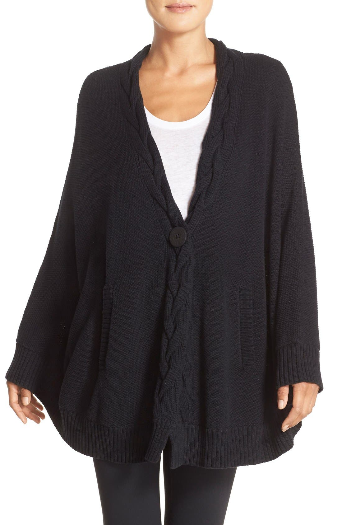 Alternate Image 1 Selected - UGG® 'Anjeline' Knit Cape
