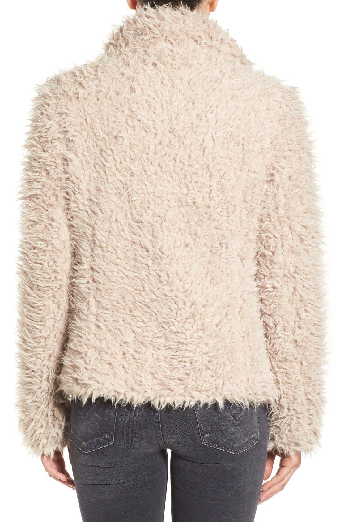 Alternate Image 2  - Betsey Johnson Faux Fur Jacket