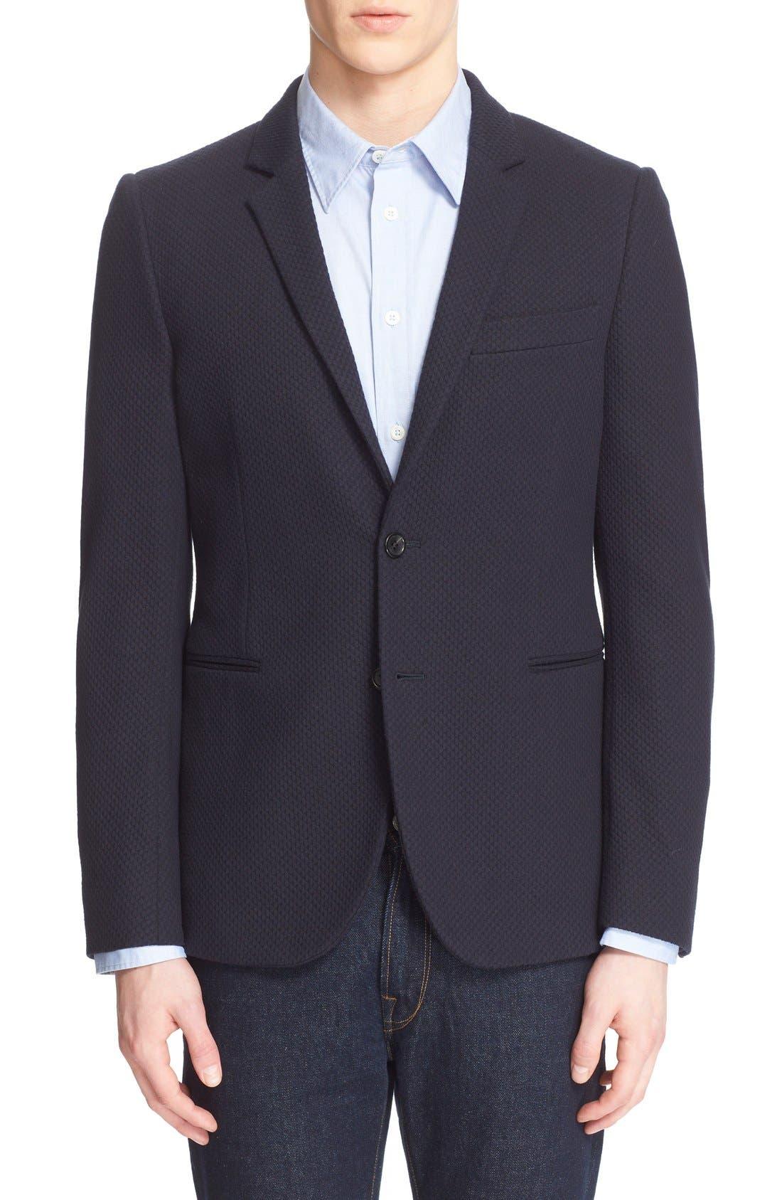PS PAUL SMITH Extra Trim Knit Cotton Blazer