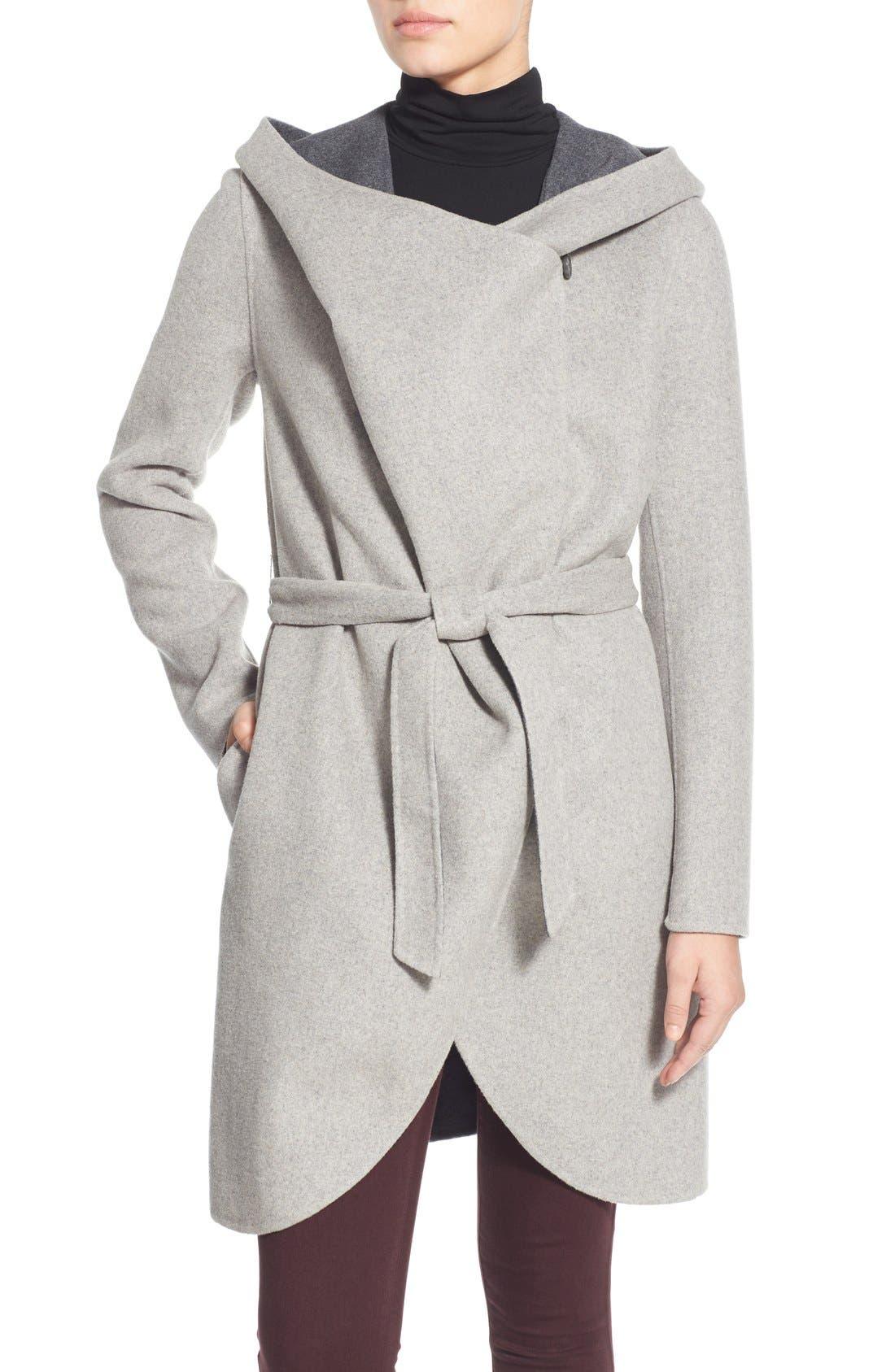 Main Image - Soia & Kyo Reversible Double Face Hooded Wrap Jacket