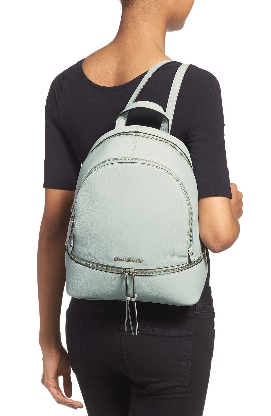 Alternate Image 2  - MICHAEL Michael Kors 'Small Rhea Zip' Leather Backpack