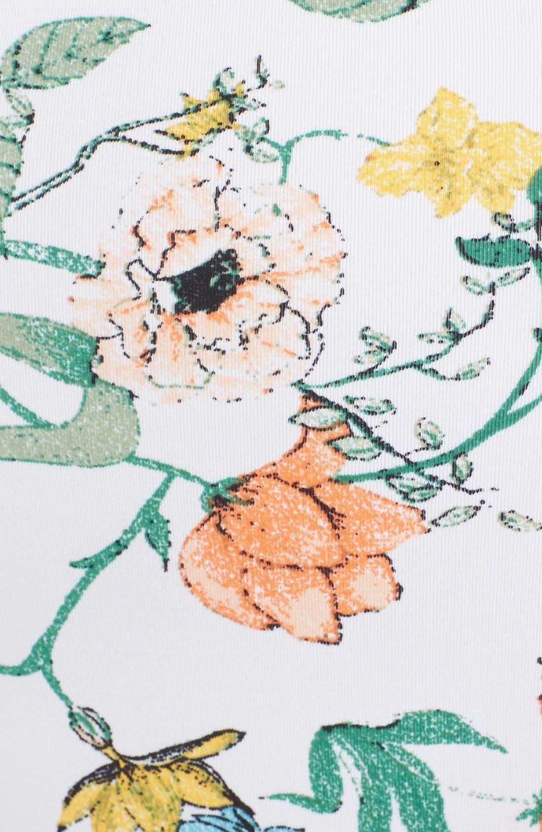 Alternate Image 5  - Somedays Lovin 'Sunny May' Floral Print Cutout High Rise Bikini Bottoms