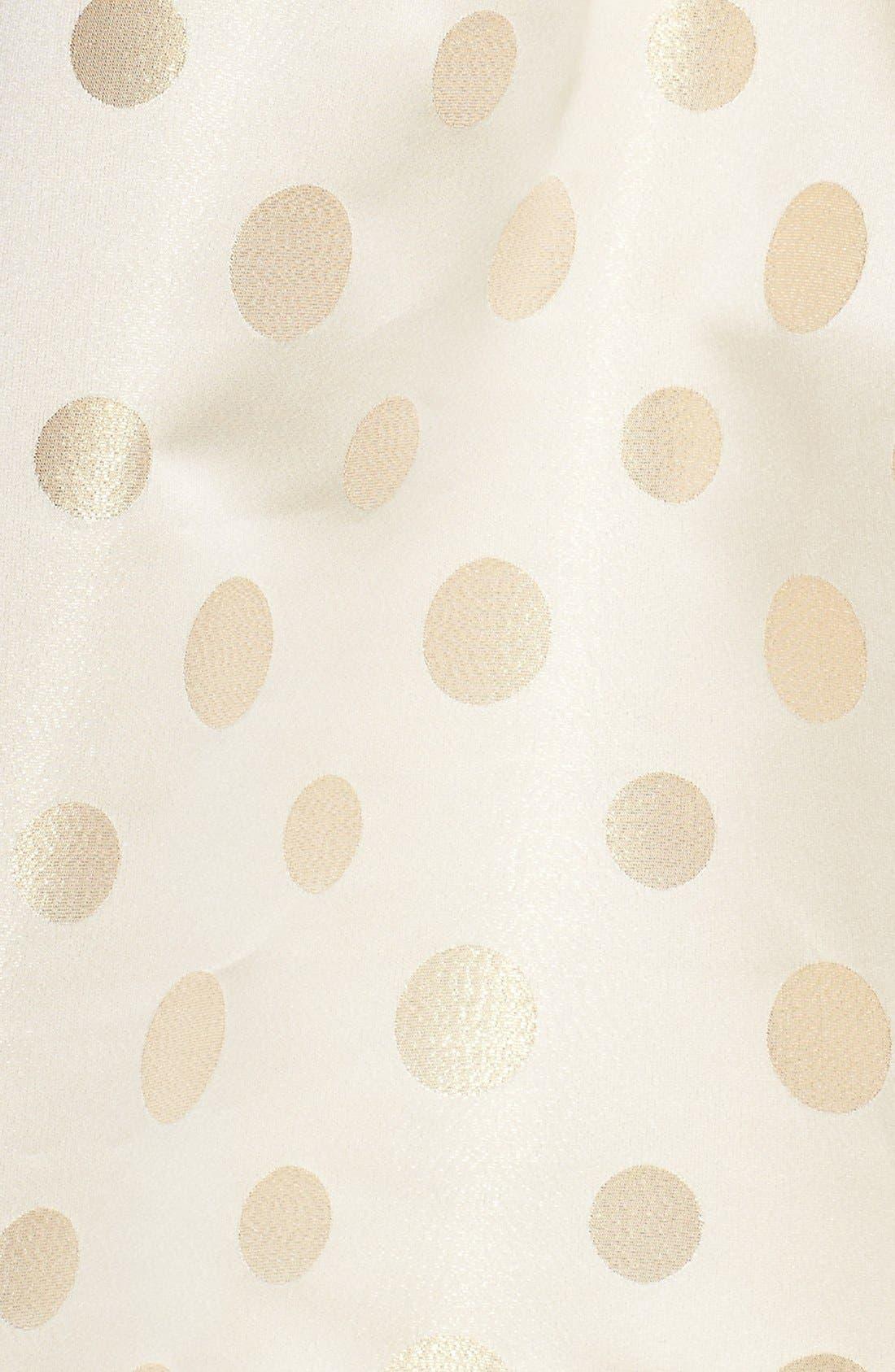 Alternate Image 5  - Eliza J Polka Dot Metallic Midi Skirt