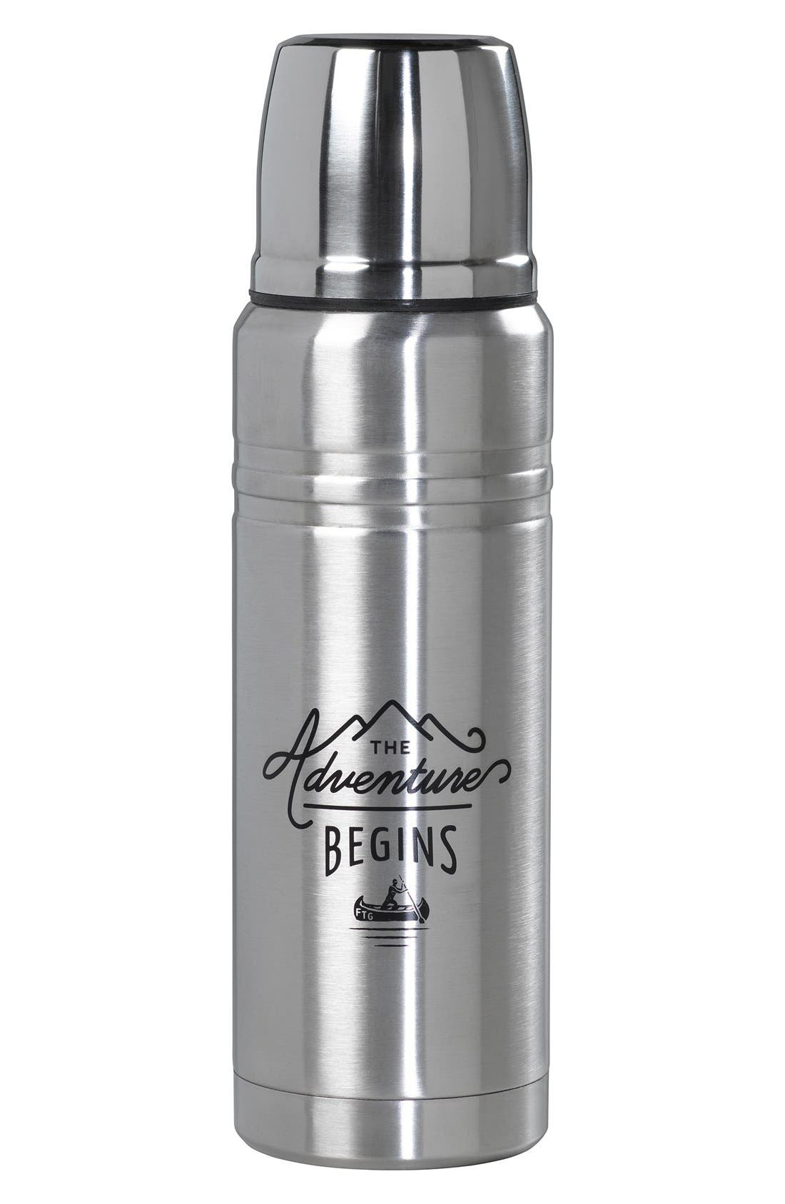 Alternate Image 1 Selected - Wild and Wolf 'The Adventure Begins' Stainless Steel Vacuum Flask