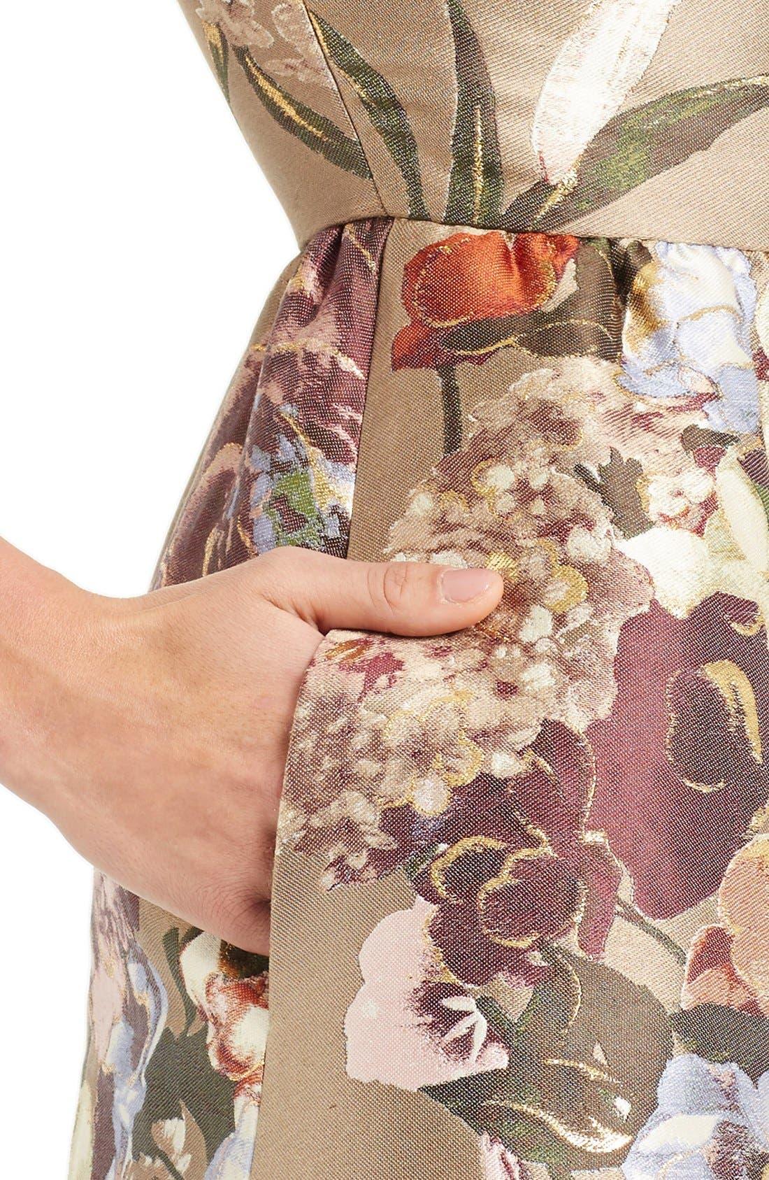 Alternate Image 6  - Valentino Kimono Floral Silk Blend Jacquard Dress