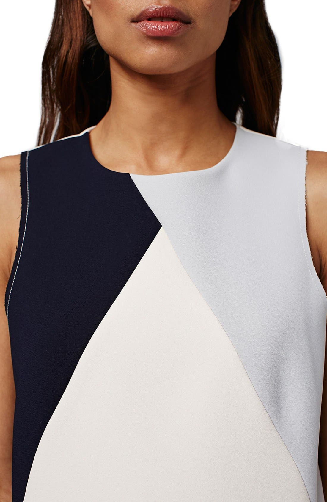 Alternate Image 5  - Topshop Colorblock Shift Dress