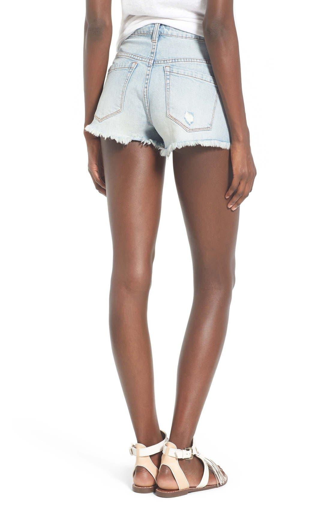 Alternate Image 2  - BLANKNYC Distressed Cutoff Denim Shorts (Secret Box)
