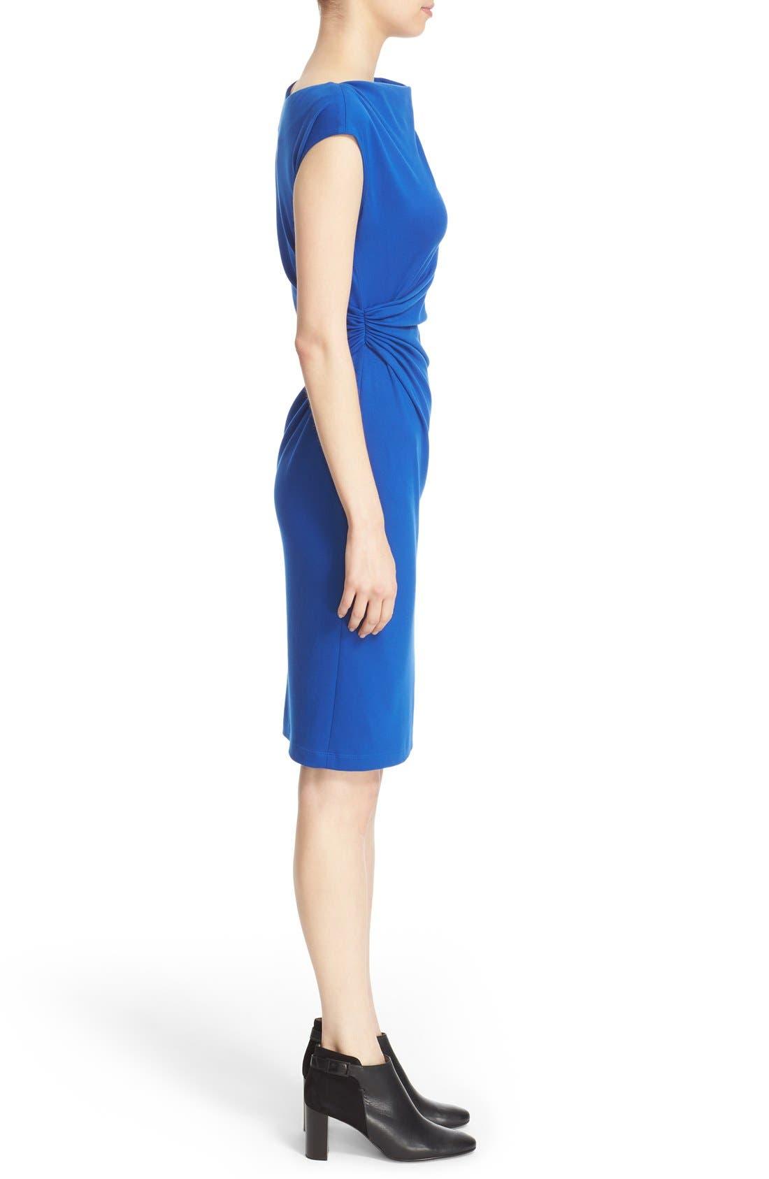 Alternate Image 5  - Lafayette 148 New York Drape Neck Ponte Dress (Regular & Petite)