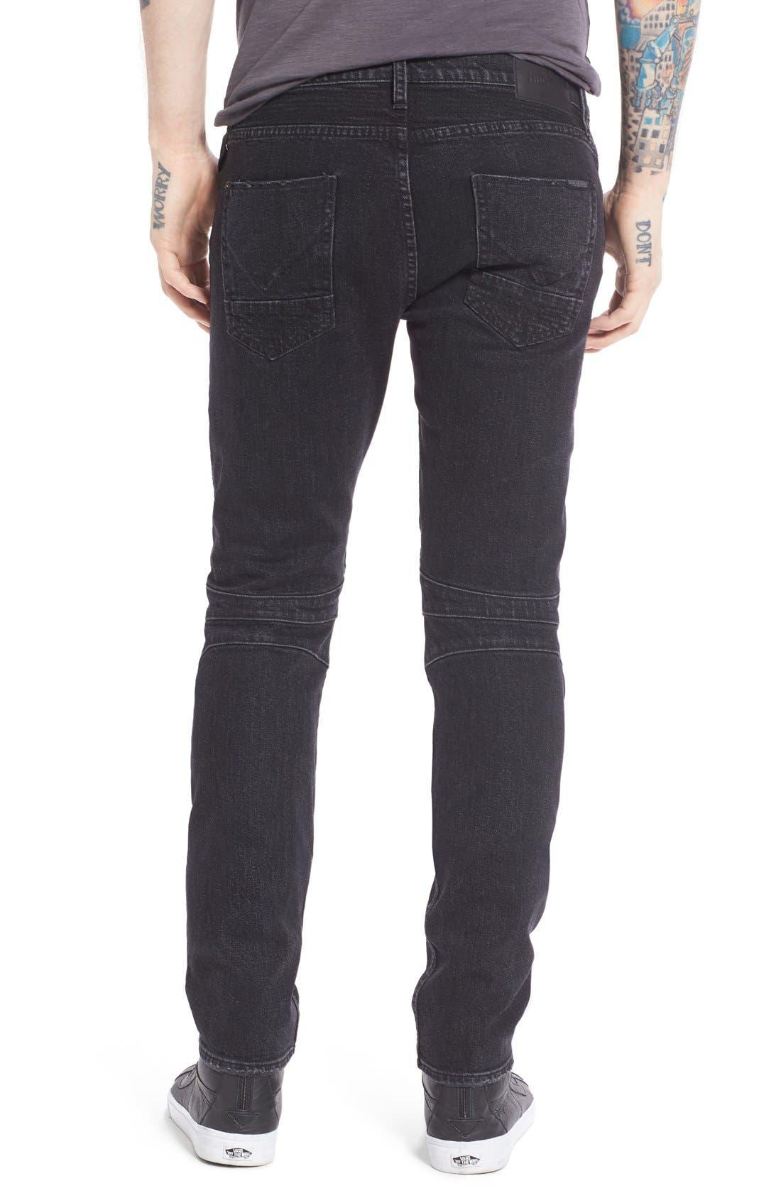 Alternate Image 2  - Hudson Jeans 'Blinder' Skinny Fit Moto Jeans (Hostile)