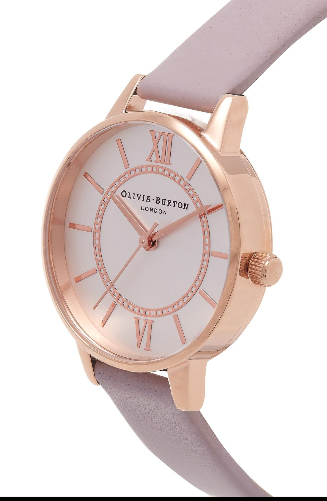 Alternate Image 2  - Olivia Burton 'Wonderland' Leather Strap Watch, 30mm