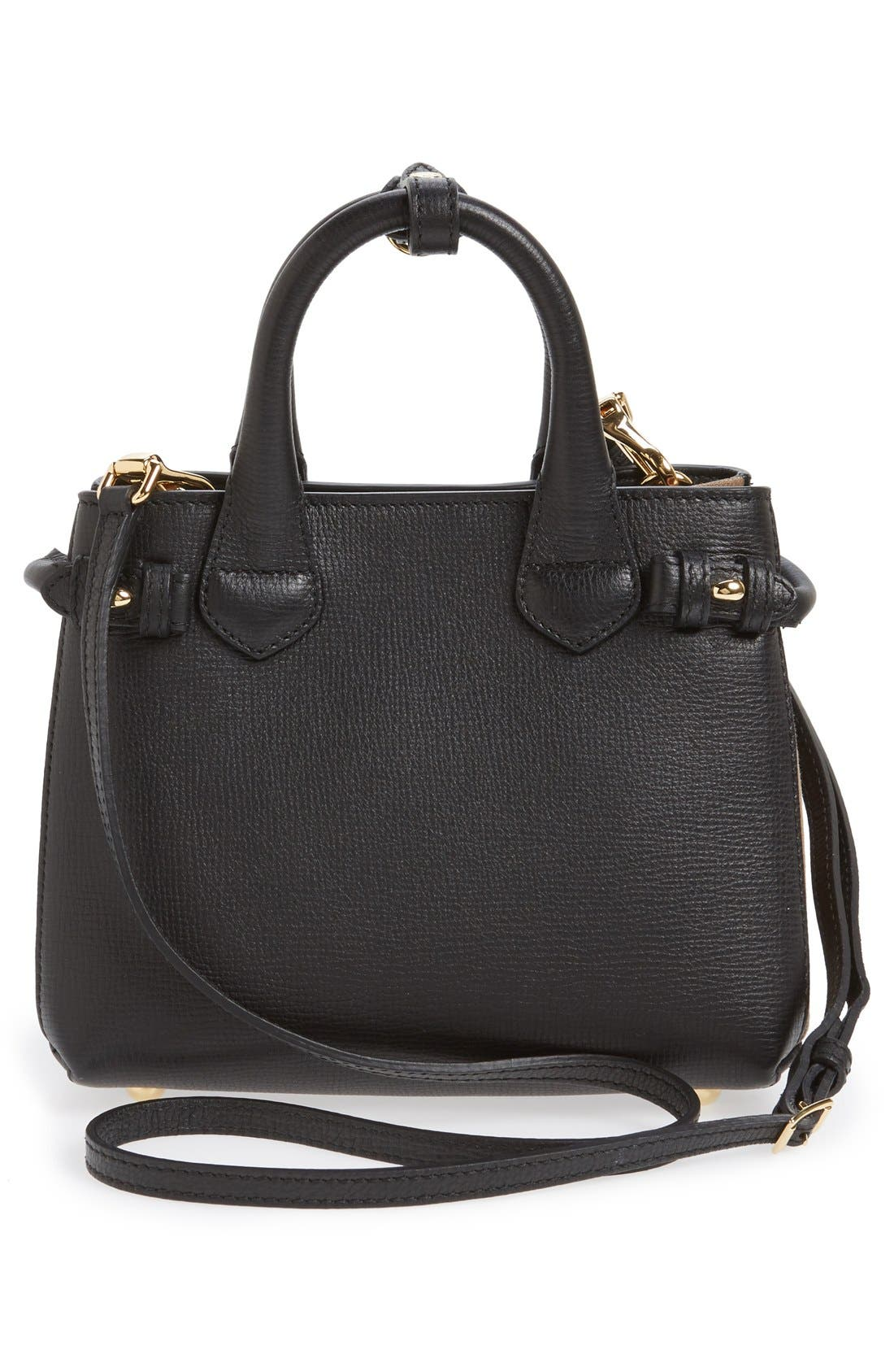 Alternate Image 3  - Burberry 'Mini Banner' House Check Leather Tote