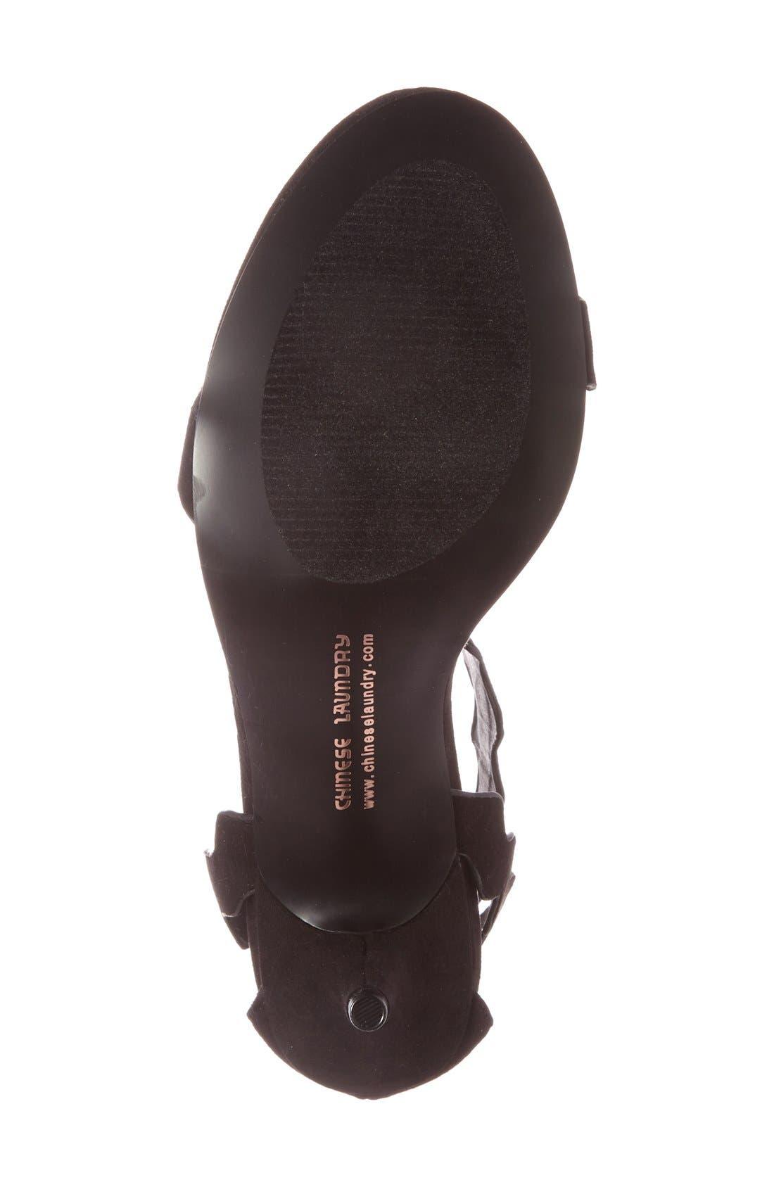 Alternate Image 4  - Chinese Laundry 'Rubie' Scalloped Ankle Strap Sandal (Women)