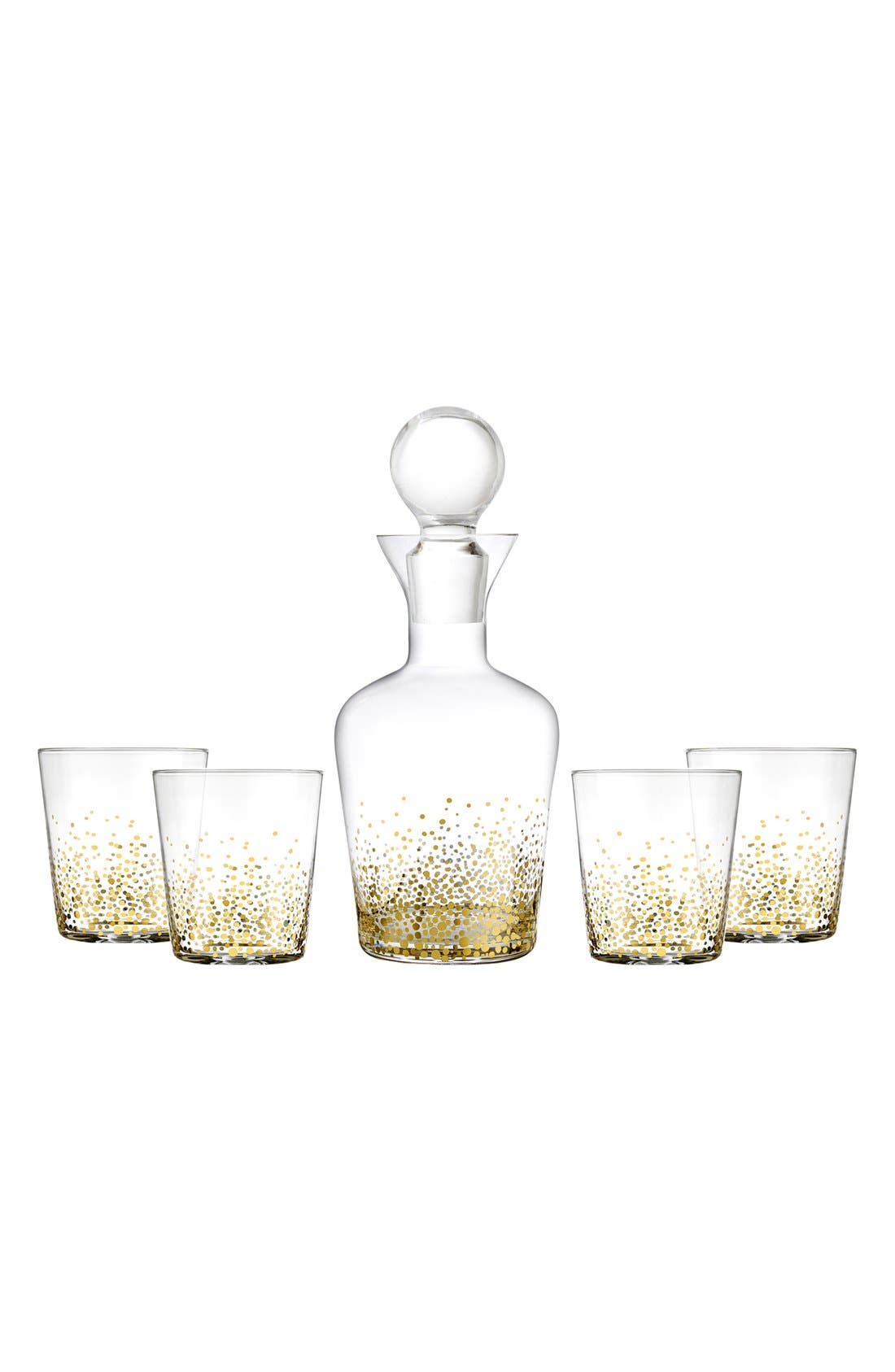 AMERICAN ATELIER 'Lustre' 5-Piece Decanter Set
