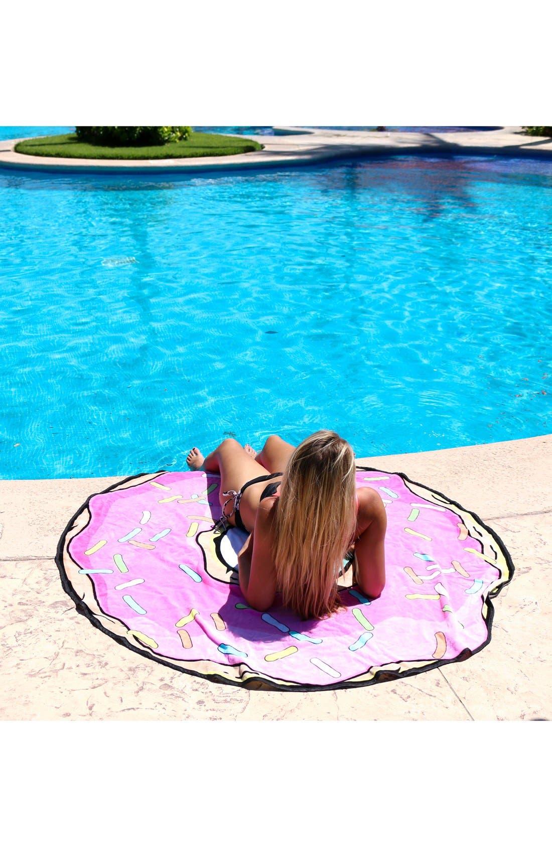 Alternate Image 2  - Round Towel Co. Donut Round Beach Towel