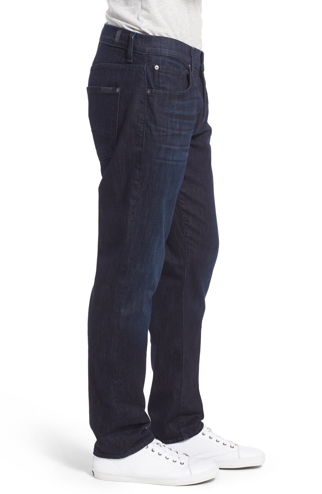 Alternate Image 3  - 7 For All Mankind® 'Straight - Luxe Performance' Slim Straight Leg Jeans (Rebellion)