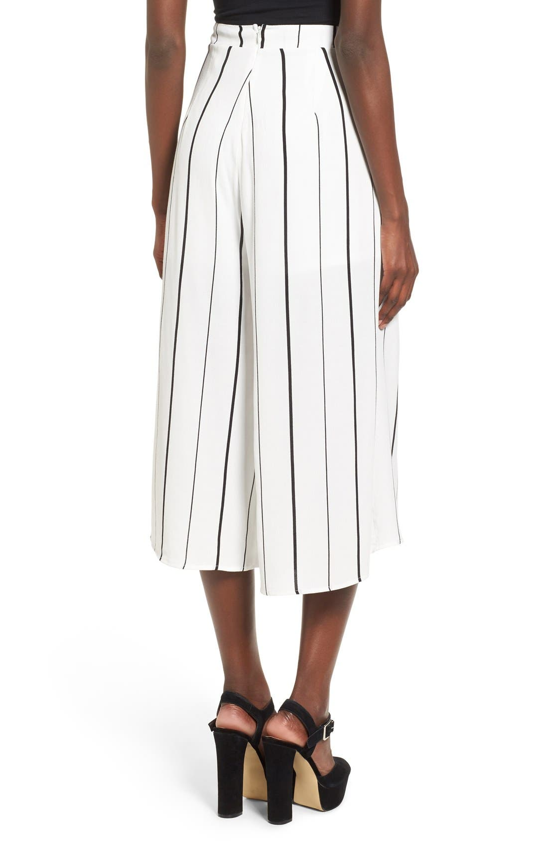 Alternate Image 3  - Leith Stripe Crop Wide Leg Pants