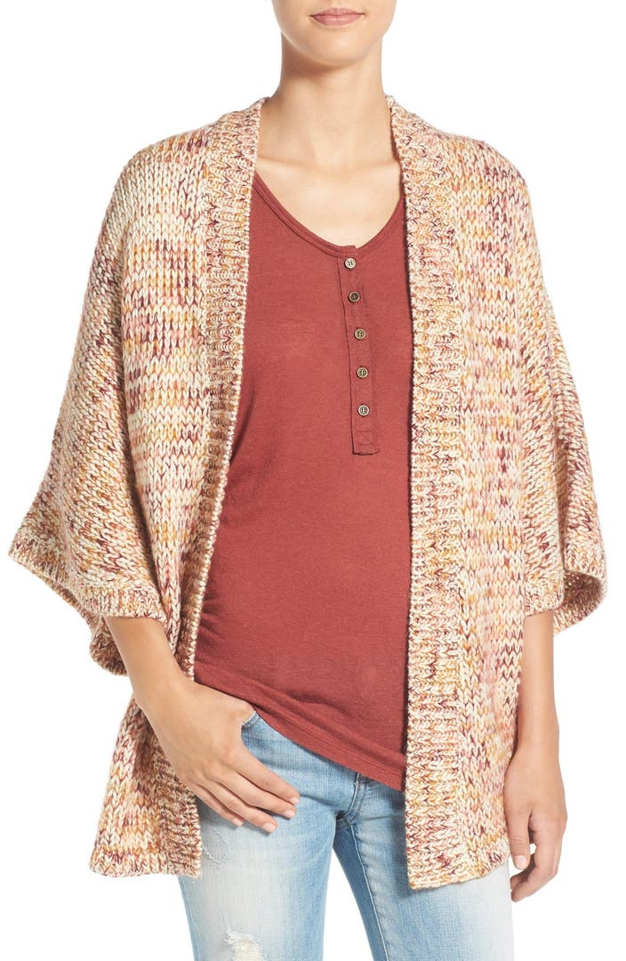Knitting Pattern For Kimono Cardigan : Volcom Kokamo Knit Kimono Cardigan Nordstrom