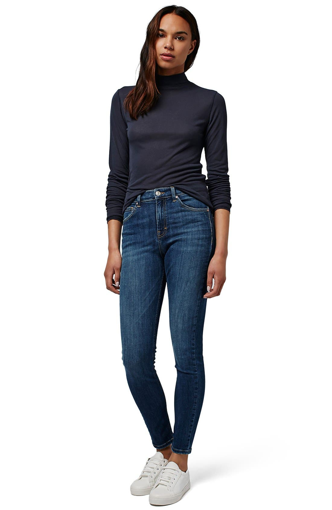 Alternate Image 2  - Topshop 'Jamie' High Rise Skinny Jeans