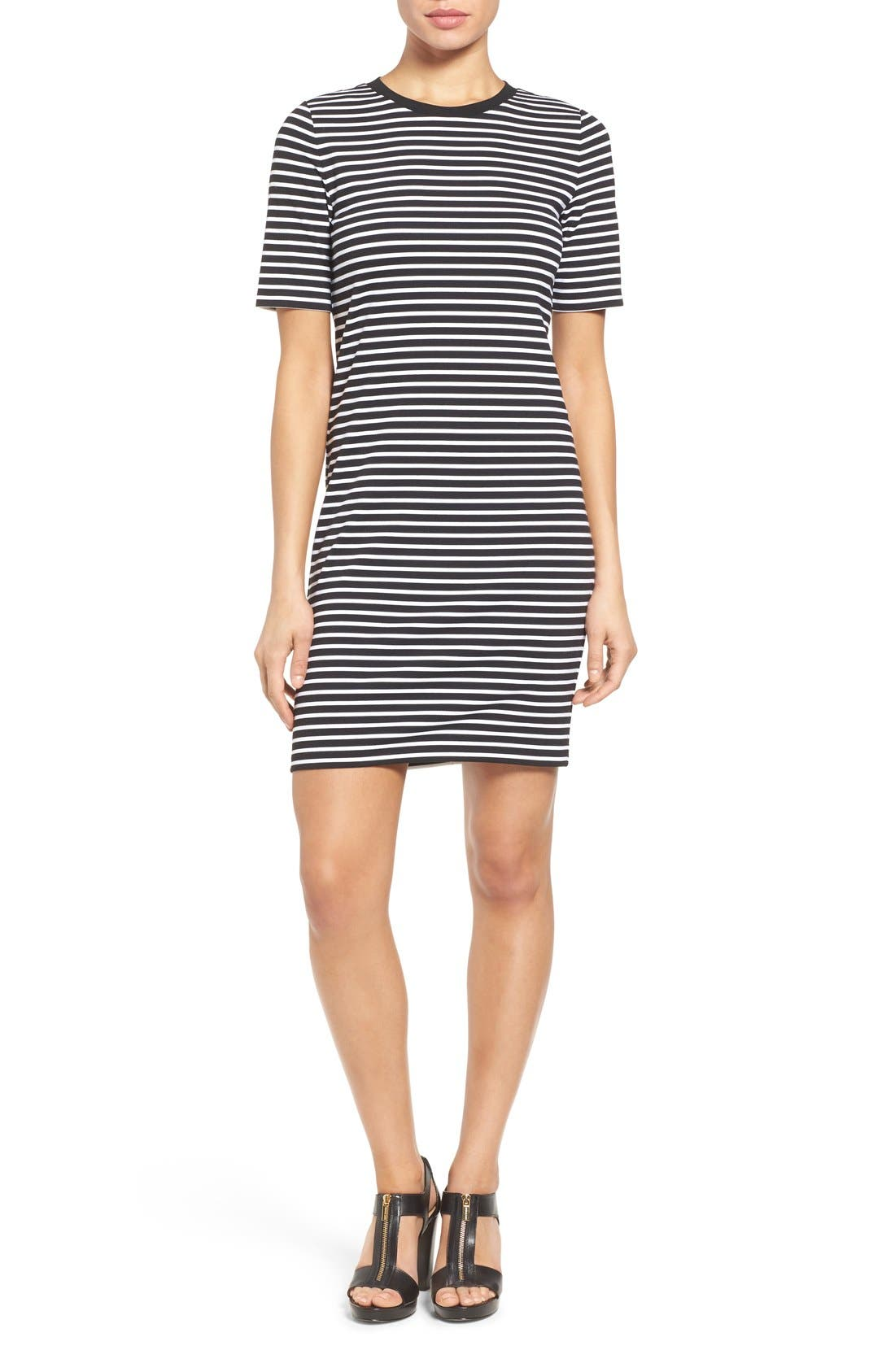 Main Image - MICHAEL Michael Kors Crewneck T-Shirt Dress (Regular & Petite)