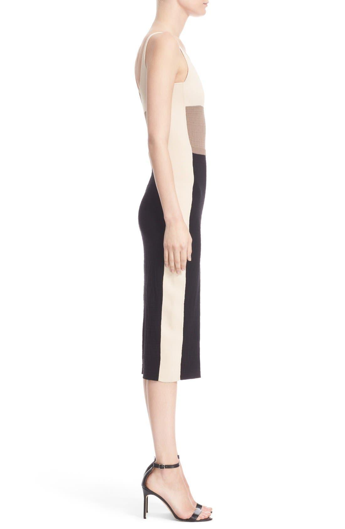 Alternate Image 4  - Narciso Rodriguez Colorblock Wool & Silk Knit Dress