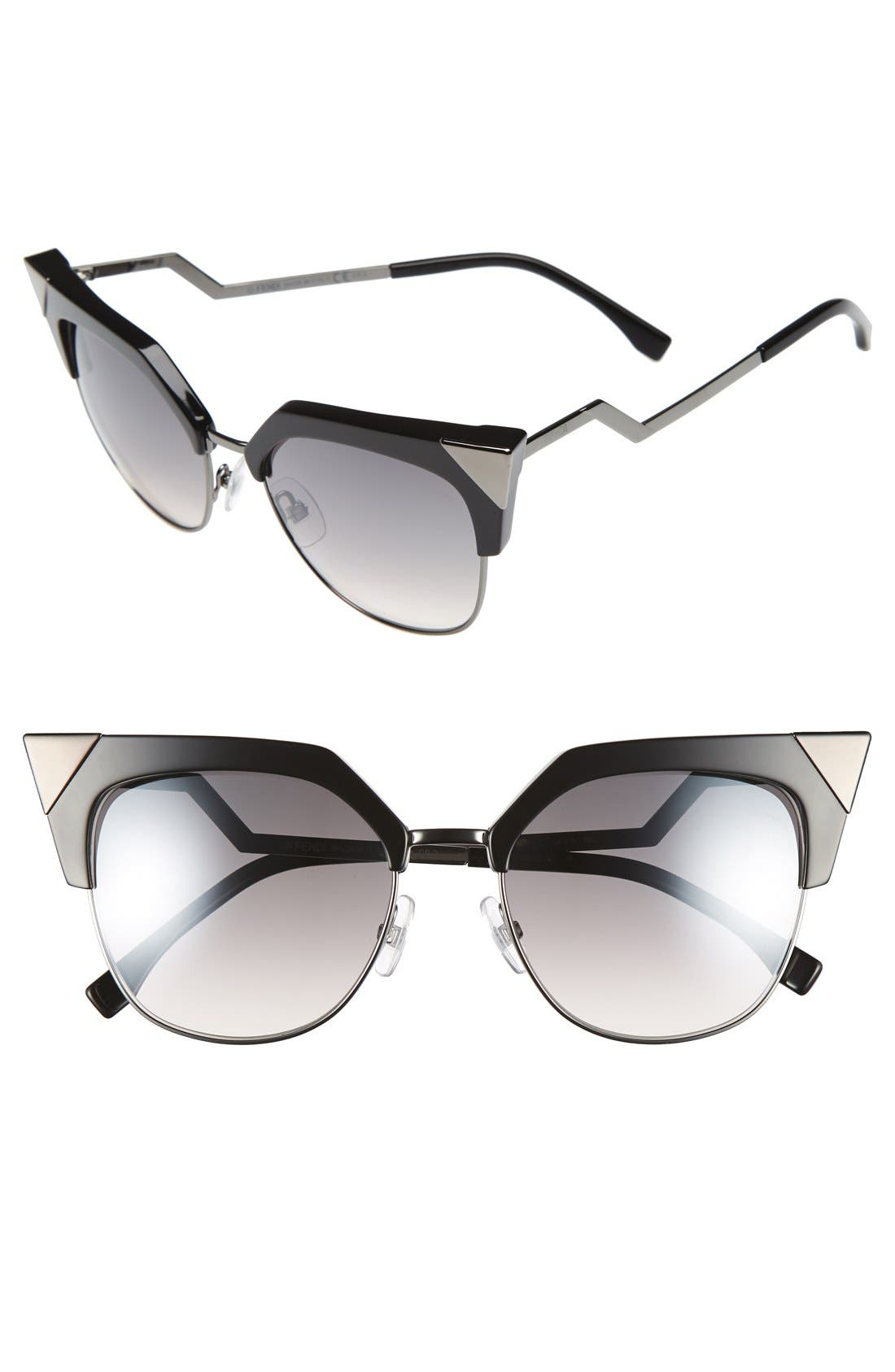 Main Image - Fendi 54mm Metal Tipped Cat Eye Sunglasses