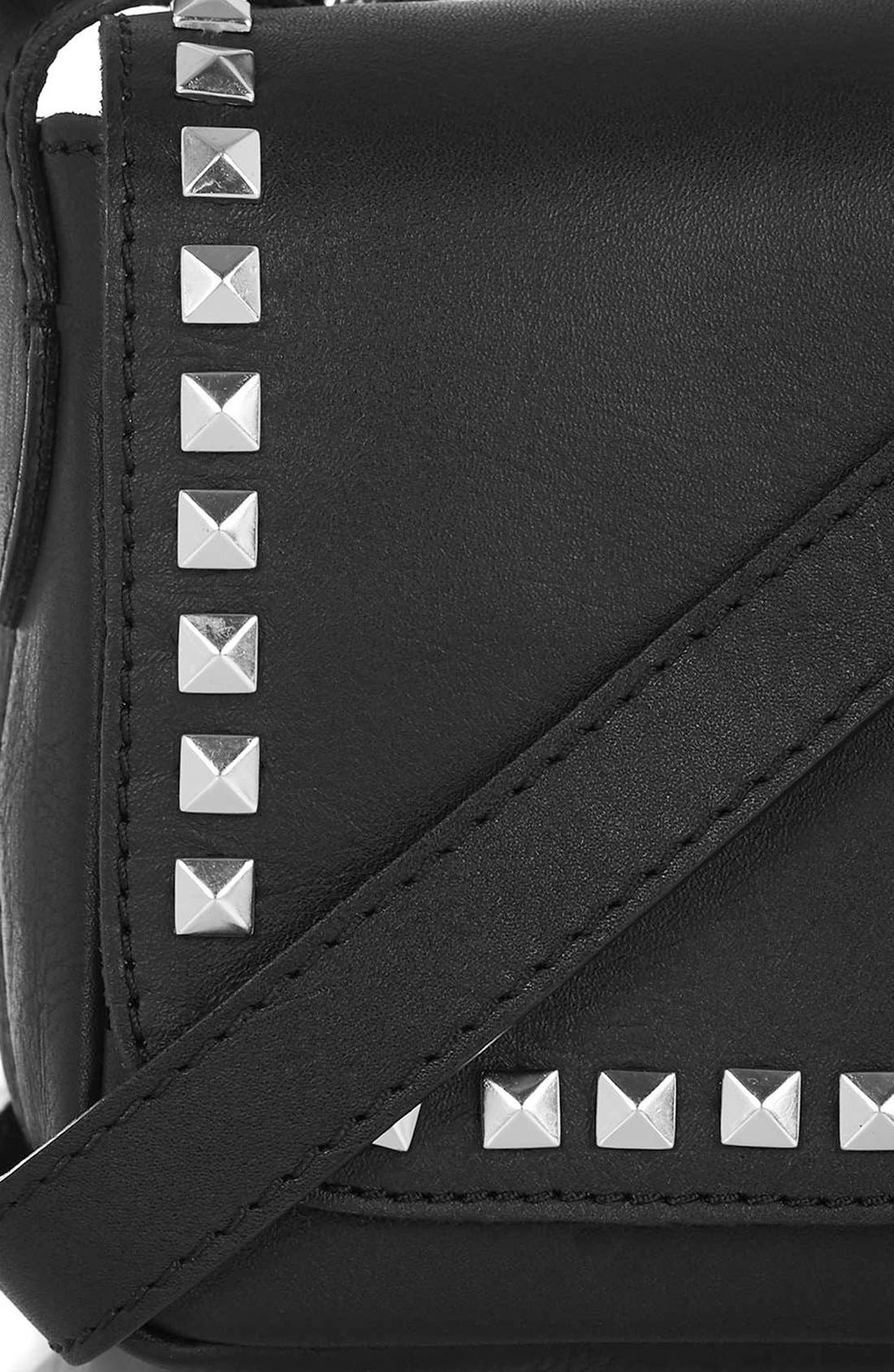 Alternate Image 5  - Topshop 'Rodeo' Studded Leather Crossbody Bag