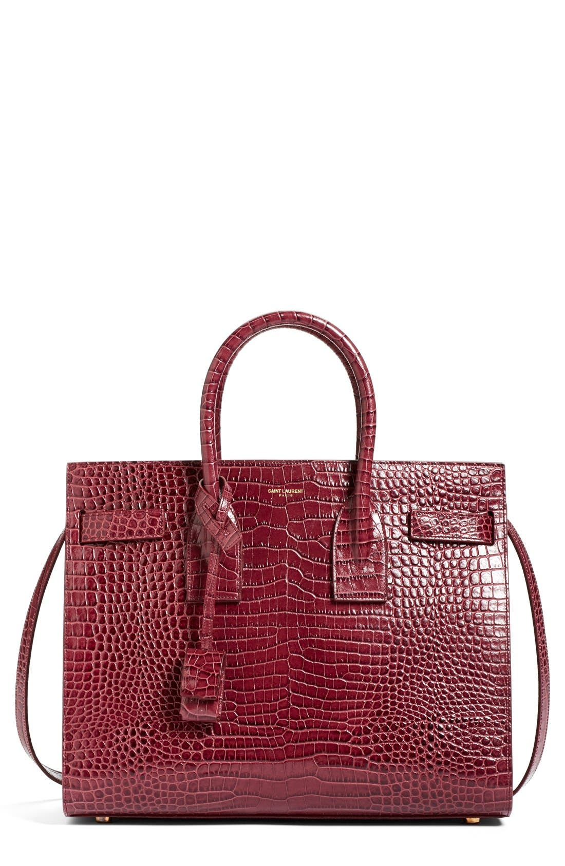SAINT LAURENT 'Small Sac de Jour' Croc Embossed