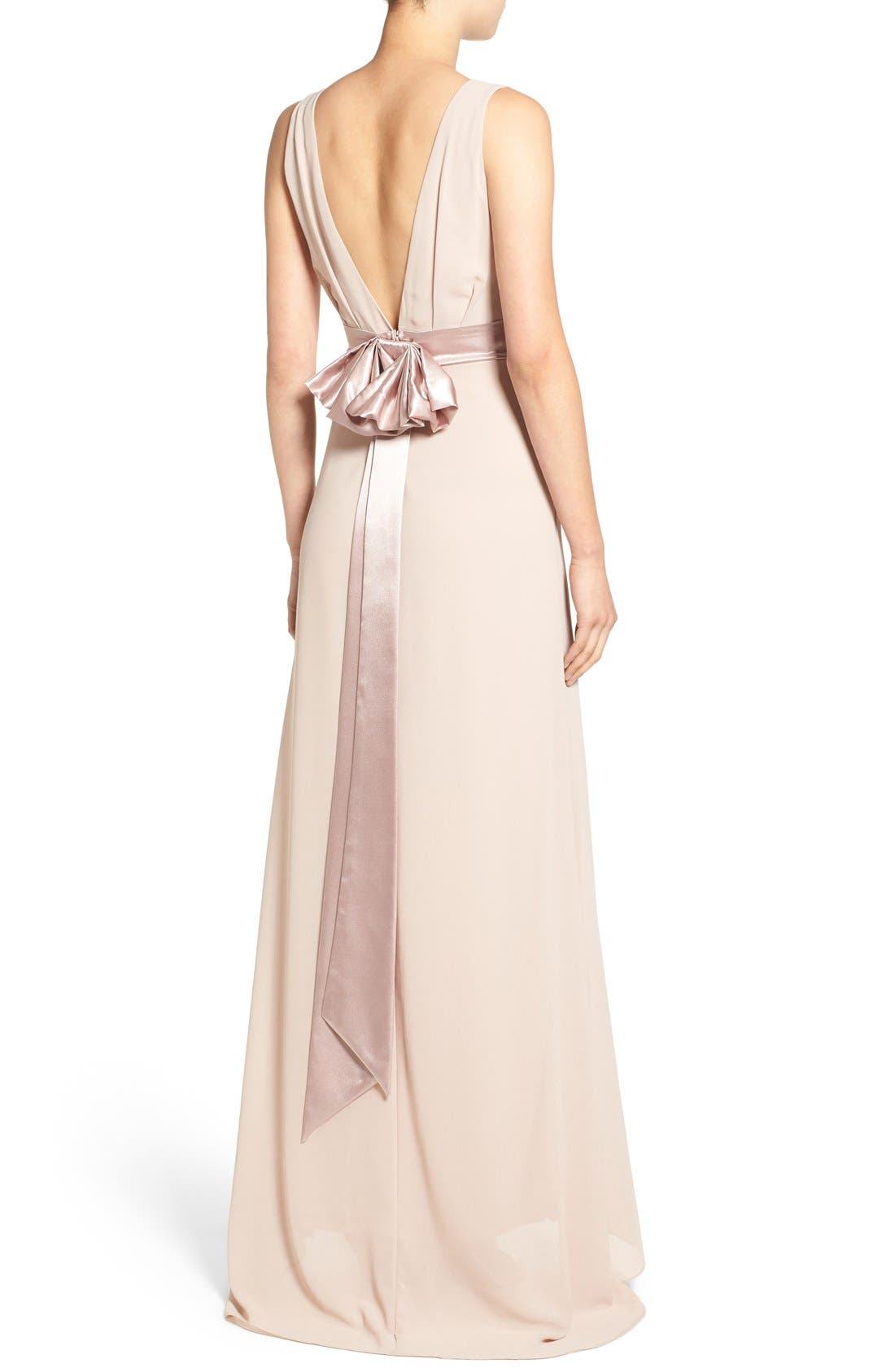 Alternate Image 2  - TFNC 'Halanna' Bow Detail Maxi Dress