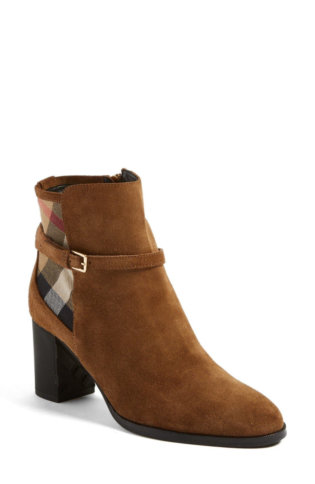 Burberry 'Stebbingford' Block Heel Bootie (Women)
