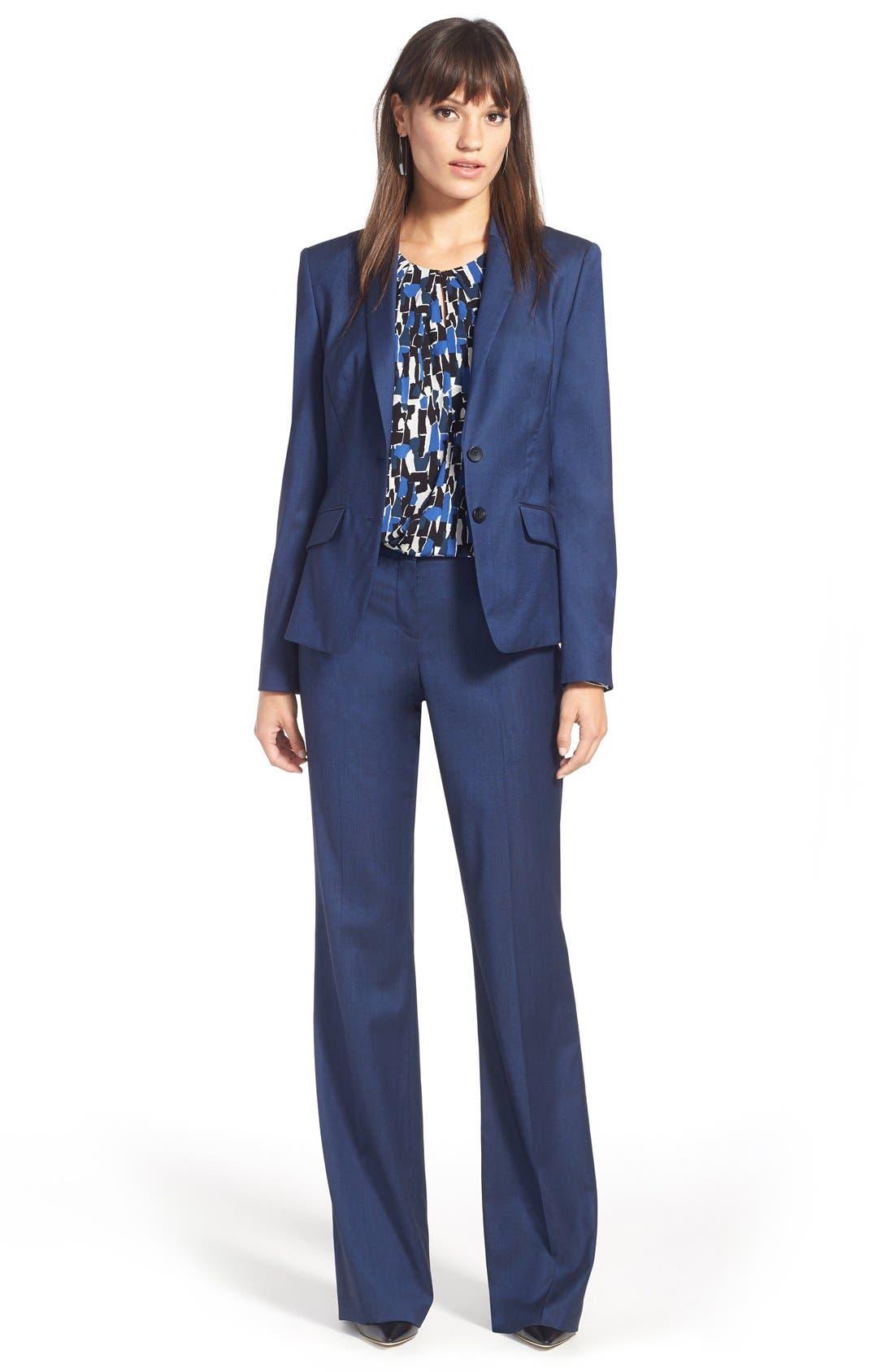 Alternate Image 7  - BOSS 'Tulea' Stretch Wool Blend Suit Trousers