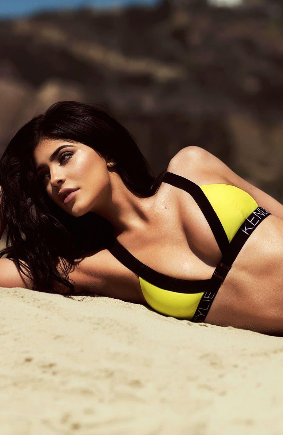 Alternate Image 5  - KENDALL + KYLIE at Topshop Contrast Trim Bikini Top
