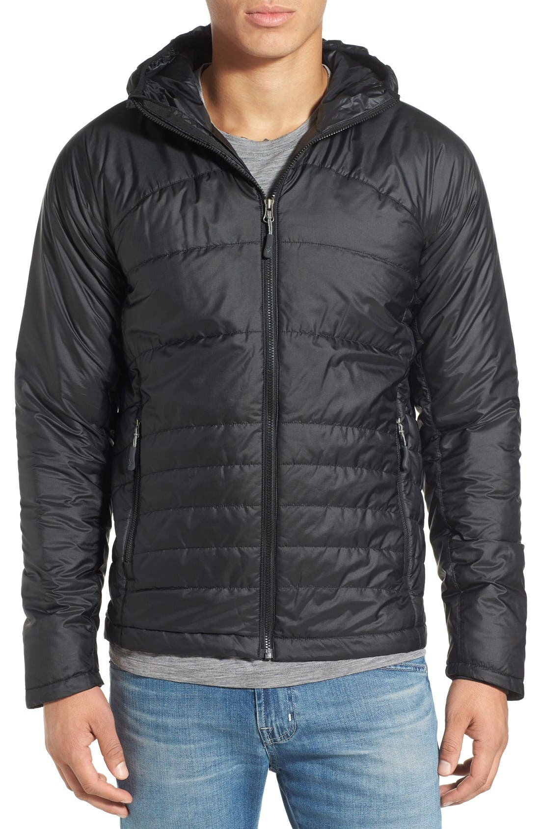 ibex 'Wool Aire' Quilted Hooded Jacket