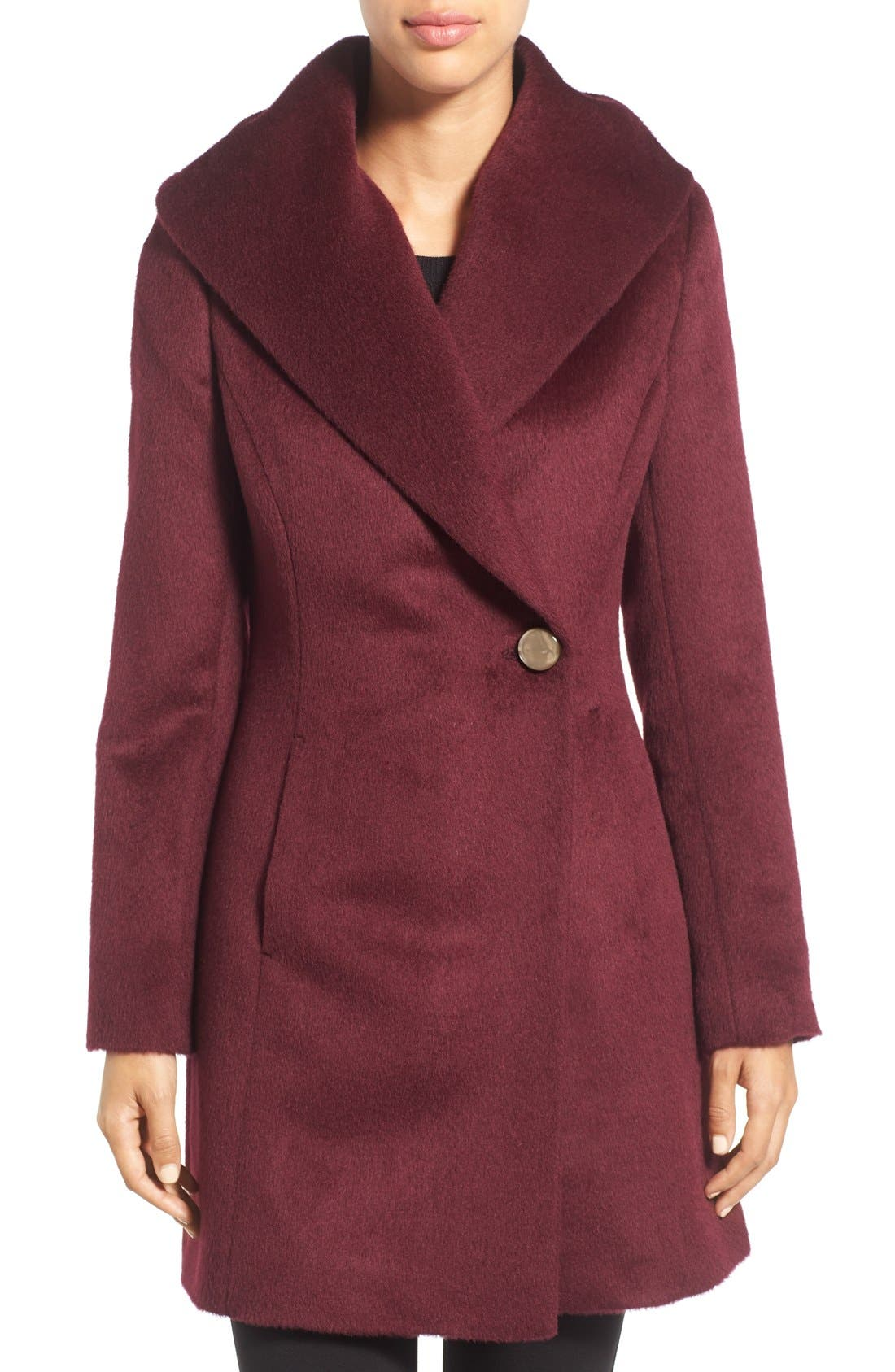 Alternate Image 1 Selected - Trina Turk 'Bonnie' Shawl Collar Skirted Coat (Regular & Petite)
