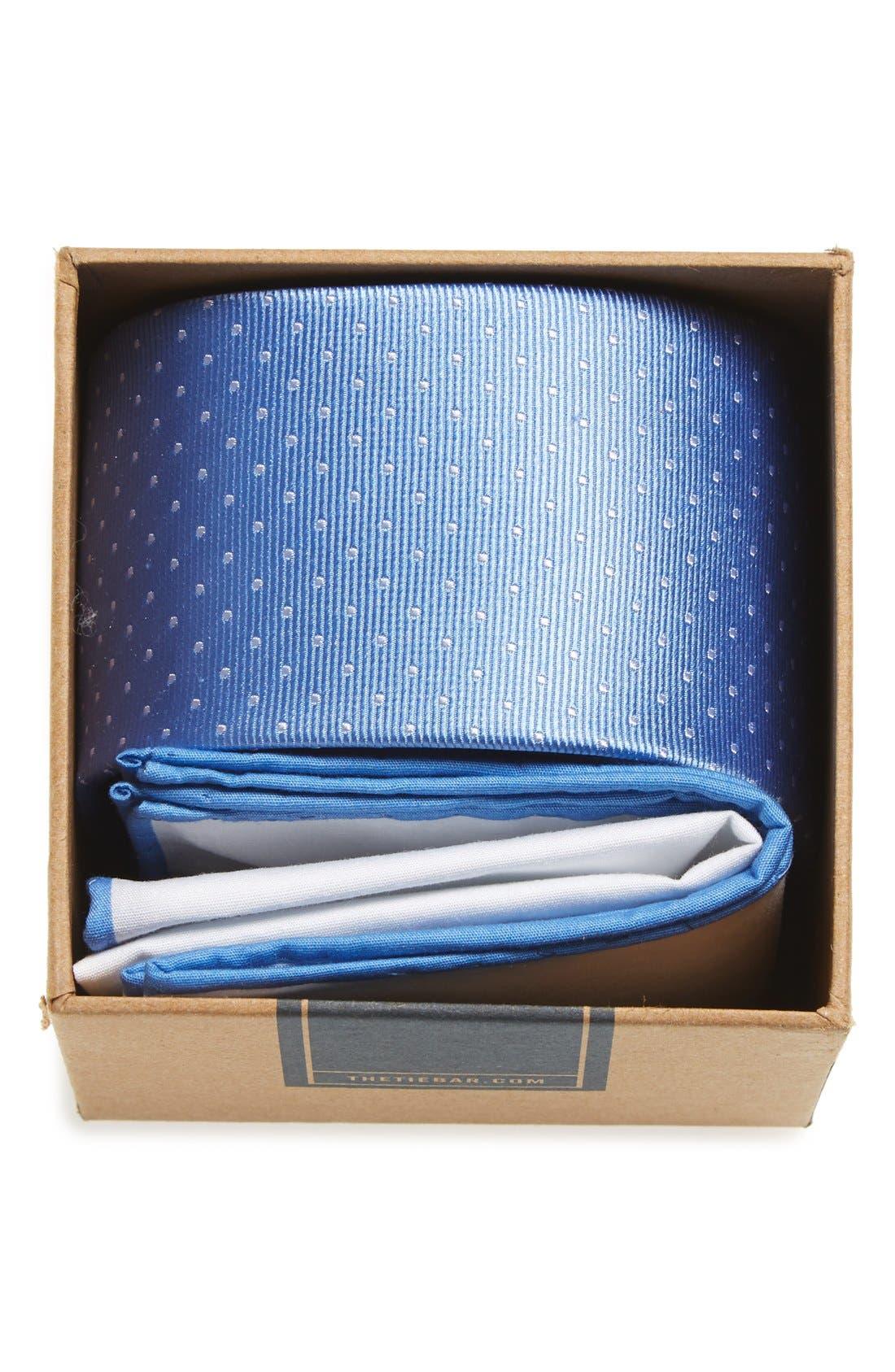 THE TIE BAR Dot Silk Tie & Cotton