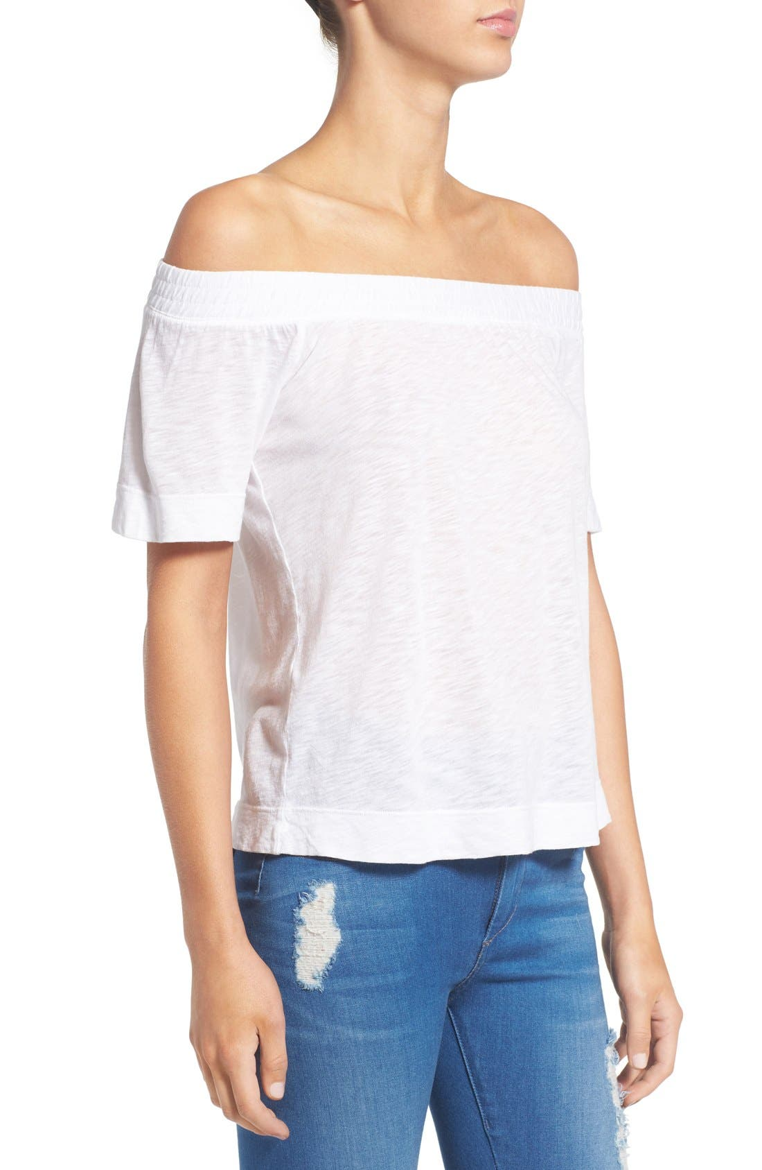 Alternate Image 3  - Splendid Slub Knit Off the Shoulder Top