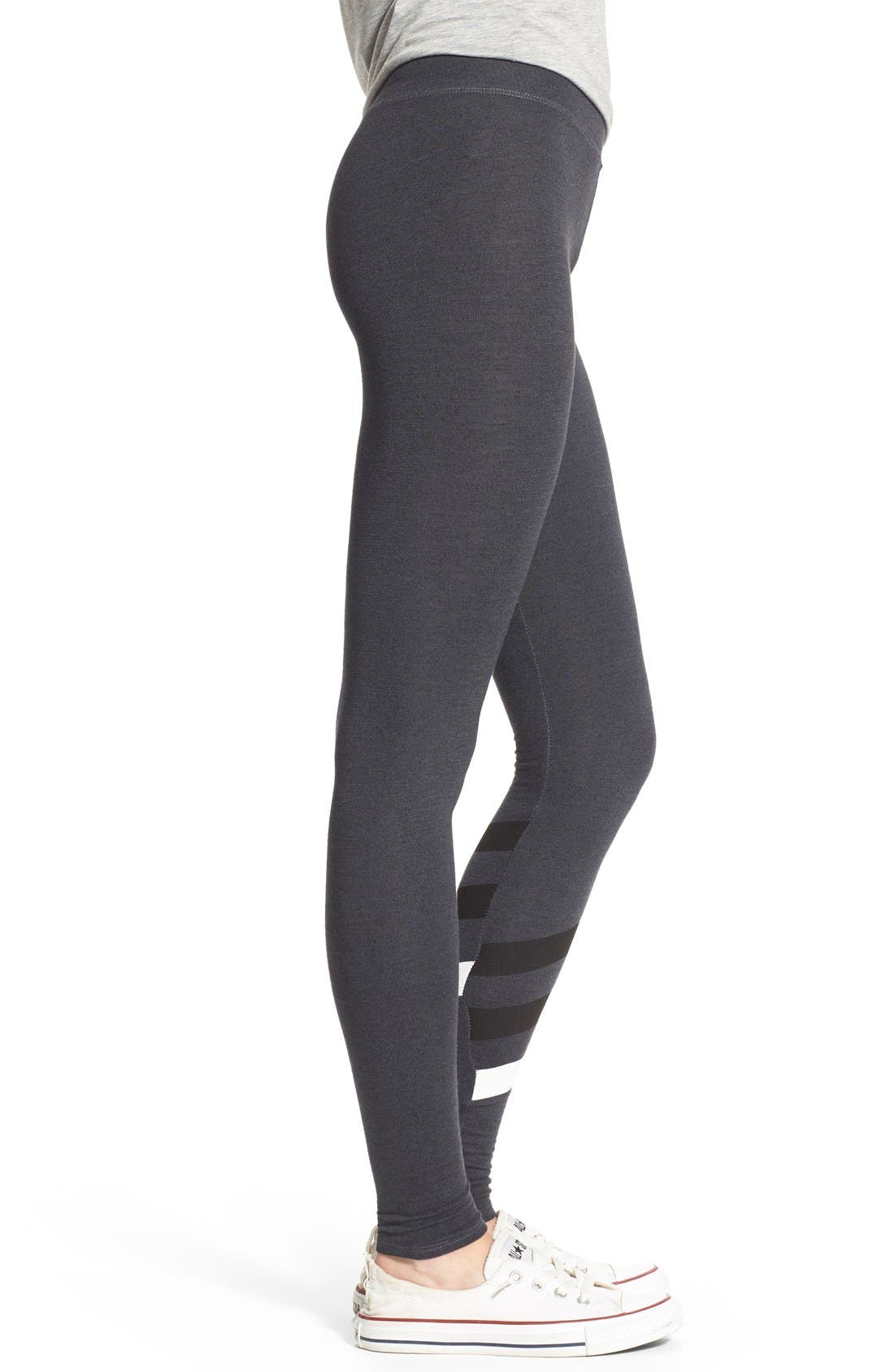 Alternate Image 3  - Sundry Stripe Detail Yoga Pants