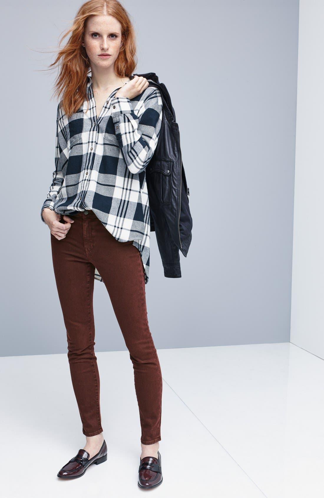 Alternate Image 6  - Madewell 'Ex Boyfriend' Plaid Oversize Cotton Shirt