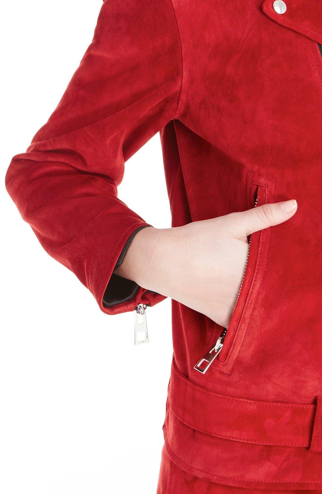 Alternate Image 5  - Loewe Suede Moto Jacket