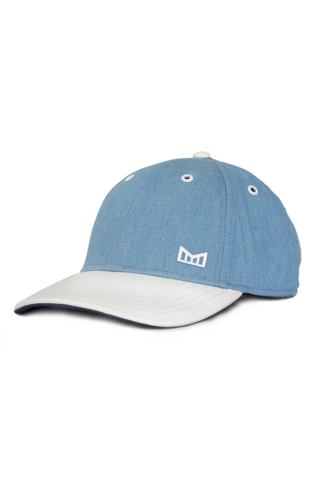 MELIN 'White Cap' Chambray Snapback Hat