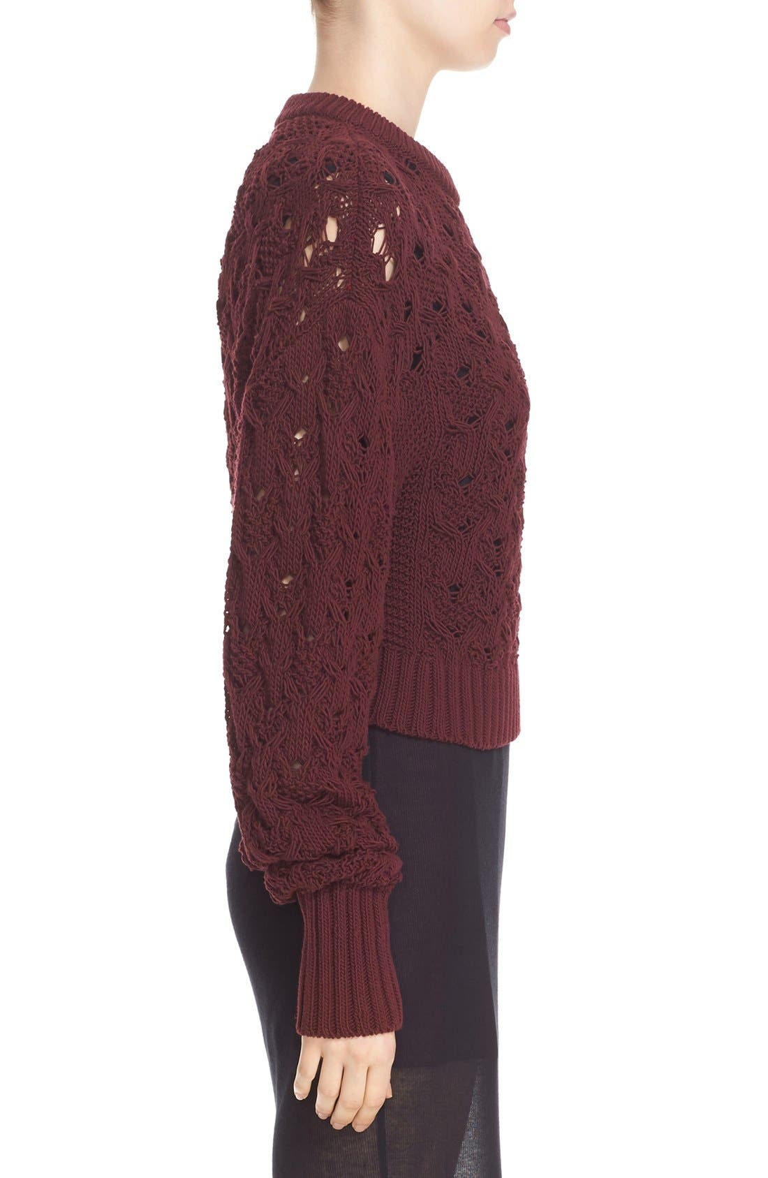 Alternate Image 4  - Public School Cotton Blend Cable Knit Sweater