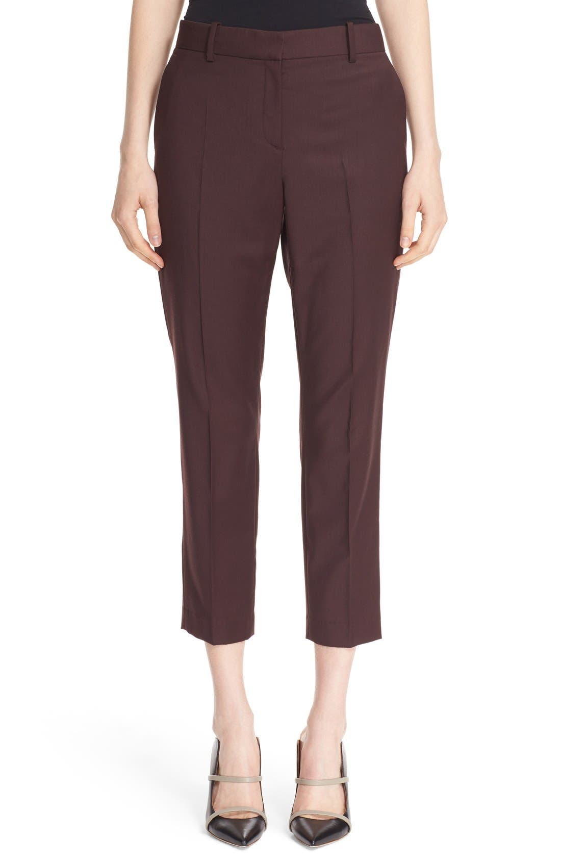 Main Image - Theory 'Treeca Continuous' Wool Blend Cigarette Pants