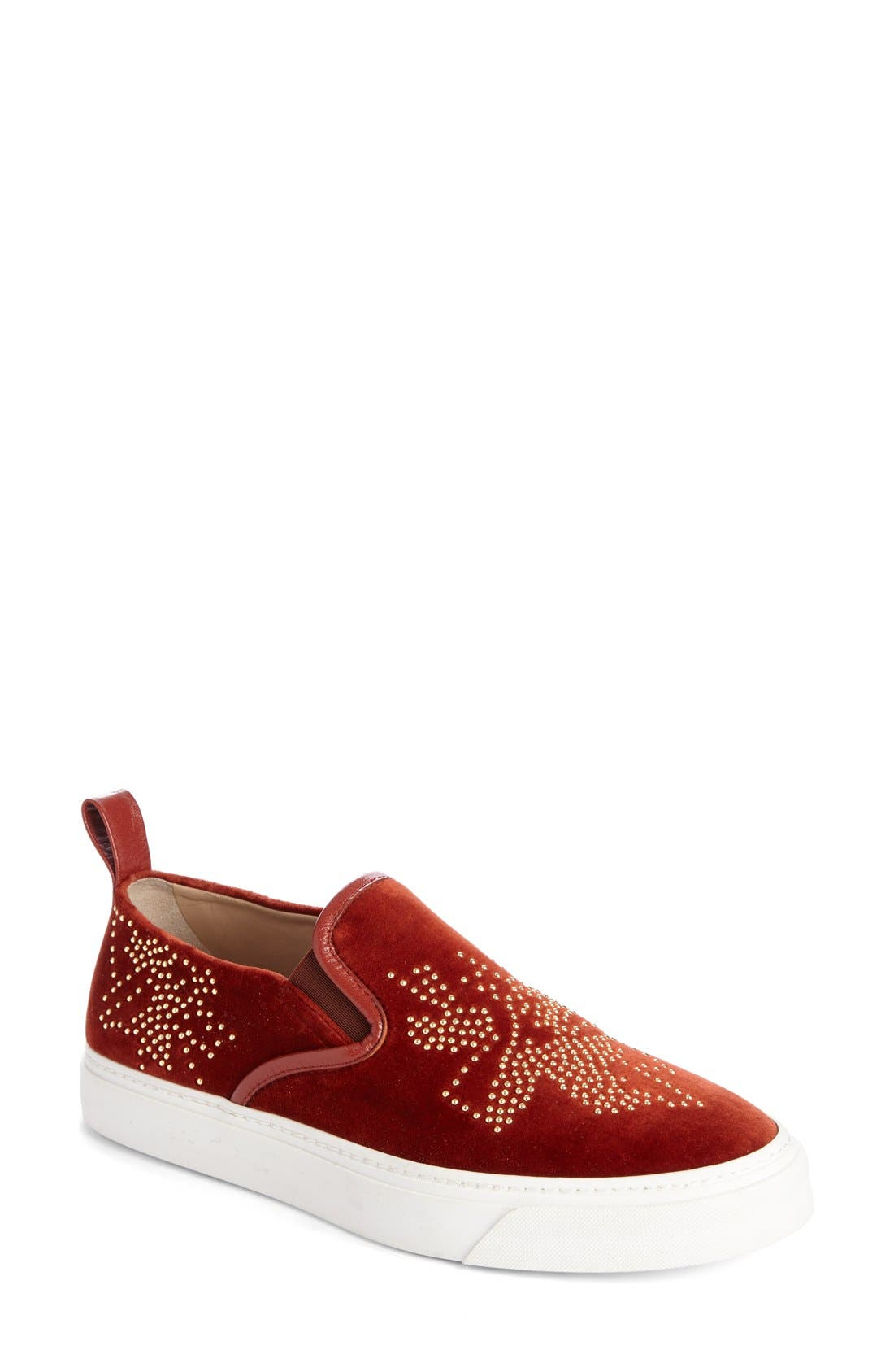 Main Image - Chloé 'Ivy' Studded Slip-On Sneaker (Women)