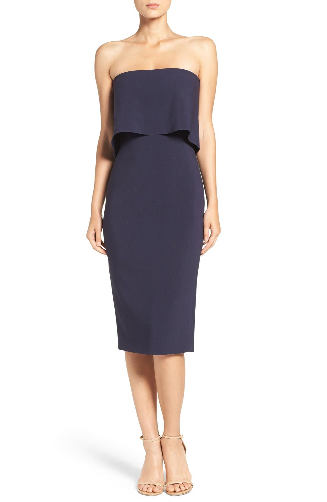 Likely 'Driggs' Strapless Popover Sheath Dress